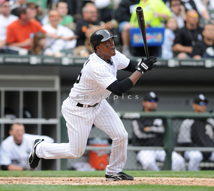 PABLO OZUNA, of the Chicago White Sox , in action against the Los Angeles Angels during the White Sox game in Chicago, IL on May 24, 2008 The Angels won the game 2-0.