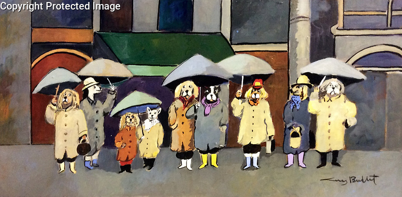 &quot;Rainy Day&quot;<br /> ORIGINAL<br /> 12x24 Acrylic on Canvas<br /> $6,500