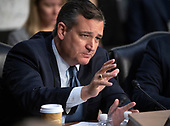 United States Senator Ted Cruz (Republican of Texas) questions witnesses who are giving testimony  on the nomination of Judge Brett Kavanaugh before the US Senate Judiciary Committee on his nomination as Associate Justice of the US Supreme Court to replace the retiring Justice Anthony Kennedy on Capitol Hill in Washington, DC on Friday, September 7, 2018.<br /> Credit: Ron Sachs / CNP