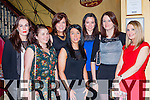 Martina O'Halloran, Knocknagree who celebrated her 30th birthday with her family and friends in Lord Kenmare's restaurant Killarney on Saturday night front l-r: Nicola Buttimer, Martina O'Halloran, Kate O'Leary. Back row: Fiona McCarthy, Grainne O'Malley, Sinead Doolin and Lisa Ryan