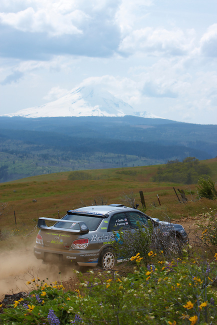 Saturday at the 2010 Oregon Trail Rally..Driving to the start of Stage 7, Catch'um II..5/15/10 at 1:23PM.