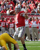 13 October 2007: Ohio State quarterback Robby Schoenhoft..The Ohio State Buckeyes defeated the Kent State Golden Flashes 48-3 on  October 13, 2007 at Ohio Stadium, Columbus, Ohio.
