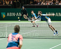 ABN AMRO World Tennis Tournament, Rotterdam, The Netherlands, 19 Februari, 2017, Ivan Dodig (CRO), Marcel Granollers (ESP), Wesley Koolhof (NED)<br /> Photo: Henk Koster