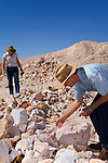 Noodling (fossicking) for opals - Coober Pedy, South Australia, AUSTRALIA.