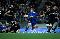 during the Steinlager Series international rugby match between the New Zealand All Blacks and France at Westpac Stadium in Wellington, New Zealand on Saturday, 16 June 2018. Photo: Dave Lintott / lintottphoto.co.nz