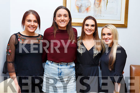 Katriona Foran second from the left from Tralee enjoying a birthday meal with friends in Bella Bia on Saturday last<br /> L-r, Katie Parnell, Katriona Foran, Clare McCarthy and Kate Sheehy.