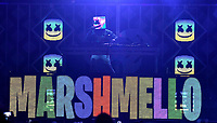 PHILADELPHIA, PA - DECEMBER 05: Marshmello performs onstage during Q102's Jingle Ball 2018 at Wells Fargo Center on December 5, 2018 in Philadelphia, Pennsylvania. Photo: imageSPACE/MediaPunch