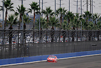 Oct. 11, 2009; Fontana, CA, USA; NASCAR Sprint Cup Series driver Juan Pablo Montoya during the Pepsi 500 at Auto Club Speedway. Mandatory Credit: Mark J. Rebilas-