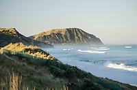 Evening surf - Makorori beach, near Gisborne.  North Island New Zealand.