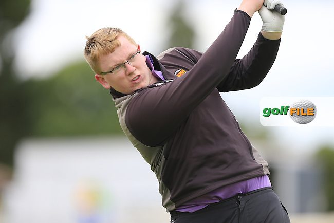 Daniel McNally (Carton House) during the first round of the Irish Boys Amateur Open Championship,Castle Golf Club, Dublin,  Ireland. 28/06/2016.<br /> Picture Fran Caffrey / Golffile.ie<br /> <br /> All photo usage must carry mandatory copyright credit (&copy; Golffile | Fran Caffrey)