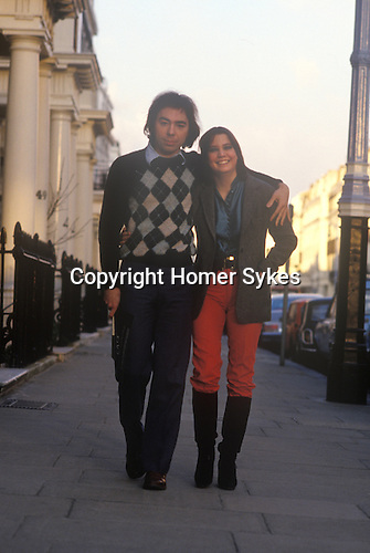 Andrew Lloyd Webber and is first wide Sarah Hughill outside their Chelsea London home.