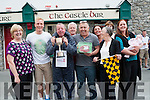 Dominick O'Brien winner of the Rock Street Bar 1 Furlong Dash on Monday and been congratulated by his friends l-r: Breda Flynn, Darren O'Sullivan (Castle Bar who presented the cup), Dominick O'Brien (winner), Liam Naughton, Pascal Power (organiser),Joanne Cunning,Bernie Hart,Joanne Cunningham and Aine Hart, Back Caroline Coffey