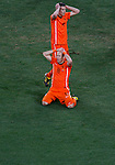 Arjen Robben, Robin Van Persie, Soccer, Football - 2010 FIFA World Cup - Johannesburg, South Africa, Sunday, July, 11, 2010. Final match, Netherlands vs Spain, Soccer City Stadium (credit & photo: Pedja Milosavljevic / +381 64 1260 959 / thepedja@gmail.com / STARSPORT )