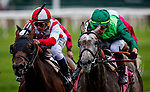 JUNE 06: Homerique with Irad Ortiz Jr. defeats Competitionofideas and Javier Castellano to win the New York Stakes at Belmont Park in Elmont, New York on June 06, 2019. Evers/Eclipse Sportswire/CSM