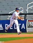 28 February 2011: New York Mets infielder Nick Evans in action during a Spring Training game against the Washington Nationals at Digital Domain Park in Port St. Lucie, Florida. The Nationals defeated the Mets 9-3 in Grapefruit League action. Mandatory Credit: Ed Wolfstein Photo