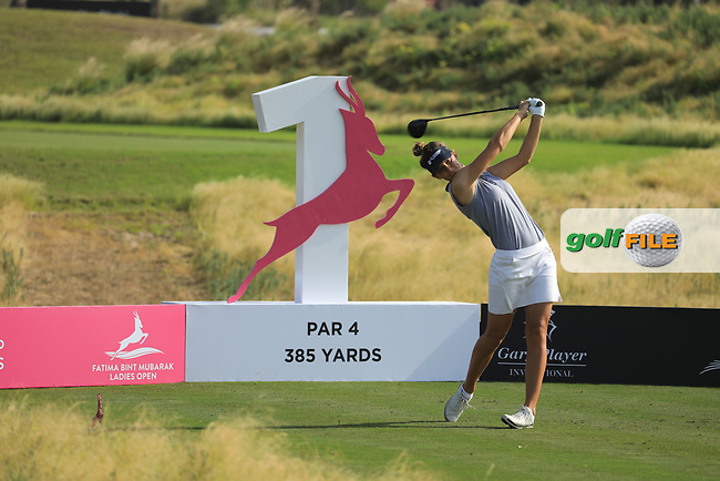 Anne Van Dam (NED) during the first round of the Fatima Bint Mubarak Ladies Open played at Saadiyat Beach Golf Club, Abu Dhabi, UAE. 10/01/2019<br /> Picture: Golffile | Phil Inglis<br /> <br /> All photo usage must carry mandatory copyright credit (&copy; Golffile | Phil Inglis)