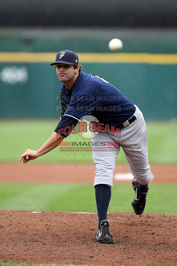 August 29 2008:  Starting pitcher Chase Wright of the Scranton Wilkes-Barre Yankees, Class-AAA affiliate of the NY Yankees, during a game at Dunn Tire Park in Buffalo, NY.  Photo by:  Mike Janes/Four Seam Images