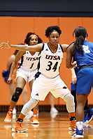 SAN ANTONIO, TX - JANUARY 17, 2019: The University of Texas at San Antonio Roadrunners fall to the Middle Tennessee State University Blue Raiders 72-52 at the UTSA Convocation Center. (Photo by Jeff Huehn)