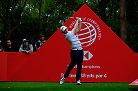 Matt Fitzpatrick (ENG) on the 9th tee  during the 1st round at the WGC HSBC Champions 2018, Sheshan Golf Club, Shanghai, China. 25/10/2018.<br />