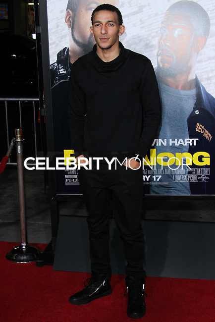 "HOLLYWOOD, CA - JANUARY 13: Khleo Thomas at the Los Angeles Premiere Of Universal Pictures' ""Ride Along"" held at the TCL Chinese Theatre on January 13, 2014 in Hollywood, California. (Photo by David Acosta/Celebrity Monitor)"