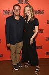 """Michael Greif and Bess Wohl during the Second Stage Theater's """"Make Believe"""" cast photo call at the Second Stage Theatre Theatre on July 23, 2019 in New York City."""