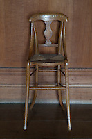 A simple but elegant chair, probably made by Alfred Wright's joiners and designed by either Barnsley or Waals