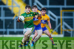 Gavin O'Grady Kerry breaks away from Darren Nagle Clare during the McGrath cup clash at Fitzgerald Stadium on Sunday