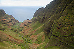 Honopu Valley on the Na Pali Coast, Kauai, Hawaii