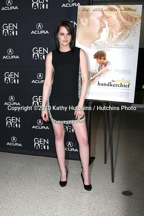 "Kristen Stewart.arriving at ""The Yellow Handkerchief"" LA Premiere.Pacific Design Center Silver Screen Theater.Los Angeles, CA.February 18, 2010.©2010 Kathy Hutchins / Hutchins Photo...."