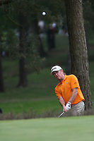 Miguel Angel Jimenez chips in from the rough on the 10th hole during the 3rd round of the 2008 BMW PGA Championship at Wentworth Club, Surrey, England 24th May 2008 (Photo by Eoin Clarke/GOLFFILE)