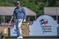 Harris English (USA) watches his tee shot on 11 during Round 4 of the Valero Texas Open, AT&amp;T Oaks Course, TPC San Antonio, San Antonio, Texas, USA. 4/22/2018.<br /> Picture: Golffile | Ken Murray<br /> <br /> <br /> All photo usage must carry mandatory copyright credit (&copy; Golffile | Ken Murray)