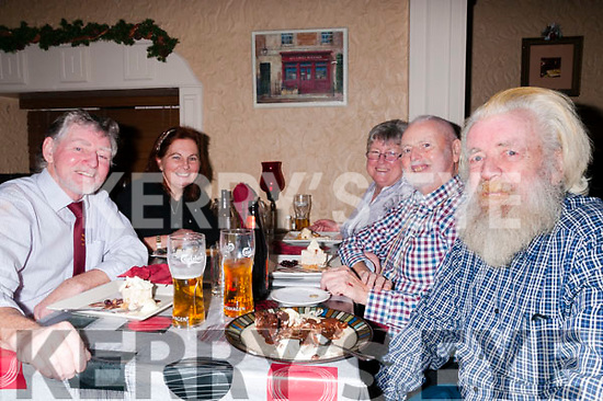 70th birthday: Brian byrne, Listowel celebrating his 70th birthday with family at Eabha Joan's Restaurant, Listowel on Saturday night last. L-R : Brian & Julia Byrne, Anne Harcourt, Ian Byrne & Alan Byrne .