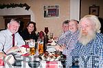 70th birthday: Brian byrne, Listowel celebrating his 70th birthday with family at Eabha Joan's Restaurant, Listowel on Saturday night last. L-R : Brian & Julia Byrne, Anne Harcourt, Ian Byrne & Alan Byrne .