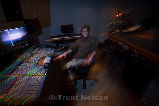 Salt Lake City - Composer Dave Evanoff in his studio at Counterpoint Studios Friday December 5, 2008.