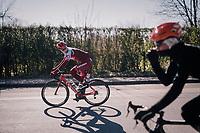 Jenthe Biermans (BEL/Katusha-Alpecin)<br /> <br /> 70th Kuurne-Brussel-Kuurne 2018<br /> Kuurne &rsaquo; Kuurne: 200km (BELGIUM)