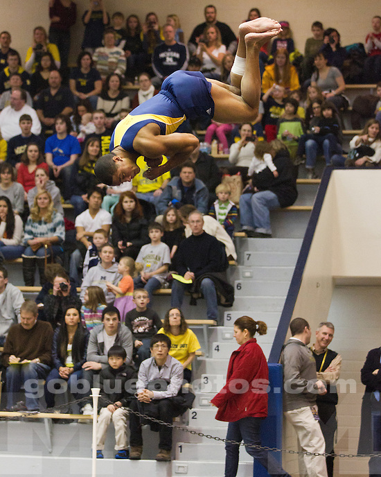 The University of Michigan men's gymnastics team defeated No. 1 Penn State, 340.300-338.450, at Cliff Keen Arena in Ann Arbor, Mich., on January 21, 2012.
