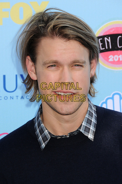 Chord Overstreet<br /> 2013 Teen Choice Awards - Arrivals held at Gibson Amphitheatre, Universal City, California, USA. <br /> August 11th, 2013<br /> headshot portrait black check shirt jumper sweater <br /> CAP/ADM/BP<br /> &copy;Byron Purvis/AdMedia/Capital Pictures