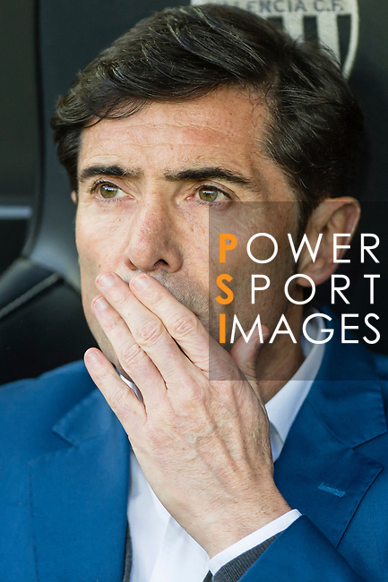 Coach Marcelino Garcia Toral of Valencia CF reacts prior to the La Liga 2017-18 match between Valencia CF and Villarreal CF at Estadio de Mestalla on 23 December 2017 in Valencia, Spain. Photo by Maria Jose Segovia Carmona / Power Sport Images