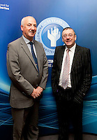 "**** NO FEE PIC***.12/04/2012 .(L to r).Ray McAndrew Chair of the Commission for the Support of Victims of Crime.David McKenna President of Victim Support Europe.during a conference on the ""The EU Directive on Victims Rights: Opportunities and Challenges for Ireland"" hosted by the the Irish Council for Civil Liberties (ICCL) in Dublin Castle..Photo: Gareth Chaney Collins"
