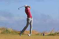 Tyrone Clarke (Royal Portrush) on the 17th tee during Round 2 - Strokeplay of the North of Ireland Championship at Royal Portrush Golf Club, Portrush, Co. Antrim on Tuesday 10th July 2018.<br /> Picture:  Thos Caffrey / Golffile
