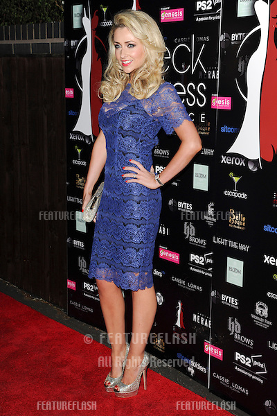 Gemma Merna arriving for the launch of The Wreck My Dress Experience, Worsley, Manchester. 02/05/2013 Picture by: Steve Vas / Featureflash