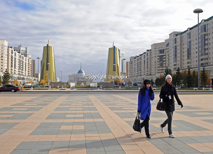 The main boulevard in Astana, the capitol of Kazakstan.<br />