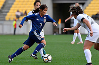 Japan&rsquo;s Emi Nakajimai in action during the  International Football - Football Ferns v Japan  at Westpac Stadium, Wellington, New Zealand on Sunday 10 June 2018.<br /> Photo by Masanori Udagawa. <br /> www.photowellington.photoshelter.com