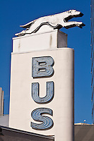 A Greyhound Lines logo is seen in Jacksonville, Florida Friday April 26, 2013.