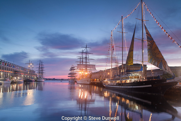 Concordia, Libertad, Mircea & Sagres & Capitan Miranda, Tall Ships, Fish Pier,  Boston Harbor, Boston, MA