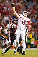Hawgs Illustrated/BEN GOFF <br /> Cole Kelley, Arkansas quarterback, throws a pass in the fourth quarter against South Carolina Saturday, Oct. 7, 2017, at Williams-Brice Stadium in Columbia, S.C.