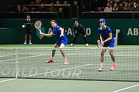 ABN AMRO World Tennis Tournament, Rotterdam, The Netherlands, 18 Februari, 2017, Nicolas Mahut (FRA), Pierre-Hugues Herbert (FRA)<br /> Photo: Henk Koster