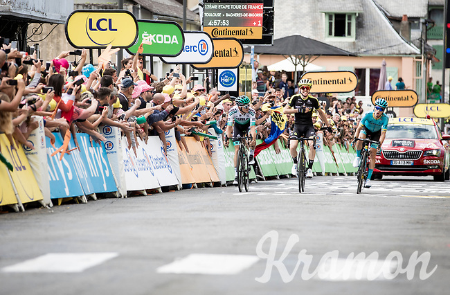 Simon Yates (GBR/Mitchelton-Scott) wins stage 12 ahead of Pello Bilbao (ESP/Astana) & Gregor Mühlberger (AUT/Bora-Hansgrohe)<br /> <br /> Stage 12: Toulouse to Bagnères-de-Bigorre (209km)<br /> 106th Tour de France 2019 (2.UWT)<br /> <br /> ©kramon