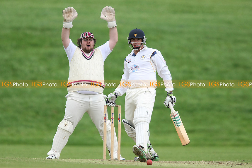 Chris Cook of Ardleigh Green survives an appeal - Ardleigh Green CC vs Colchester & East Essex CC - Essex Cricket League - 04/08/12 - MANDATORY CREDIT: George Phillipou/TGSPHOTO - Self billing applies where appropriate - 0845 094 6026 - contact@tgsphoto.co.uk - NO UNPAID USE.