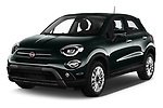 2019 Fiat 500-X Cross 5 Door SUV Angular Front stock photos of front three quarter view